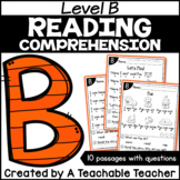 Level B Reading Comprehension Passages and Questions