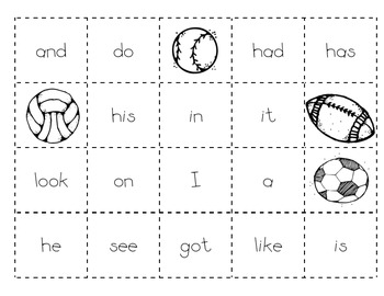 Level B Sight Word Making Sentences