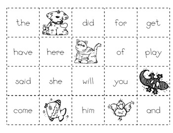 Level C Sight Word Making Sentences