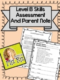 Level B Skills Assessment and Parent Note