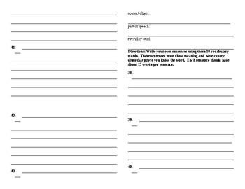Sadlier Vocabulary Workshop Level B: Unit 2 1-10