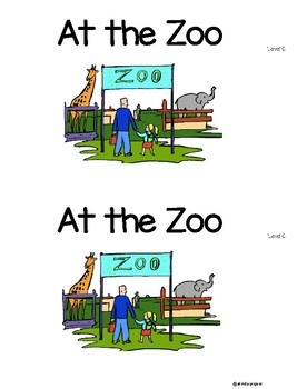 Level C At the Zoo Guided Reading book and Lesson Plans!