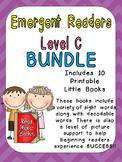 Level C Emergent Reader Bundle for Kindergarten- Guided Reading Leveled Readers