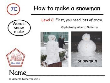 Level C: Nonfiction Titled How To Make A Snowman Level C #7