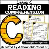 Level C Reading Comprehension Passages and Questions