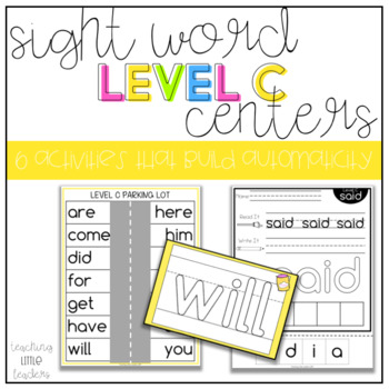 Level C Sight Word Centers