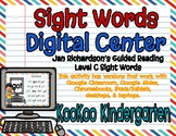 Level C Sight Words Digital Center (Jan Richardson Guided Reading Word List)