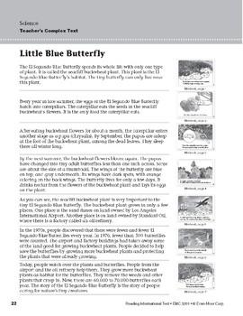 Level D: Little Blue Butterfly (Reading Informational Text)