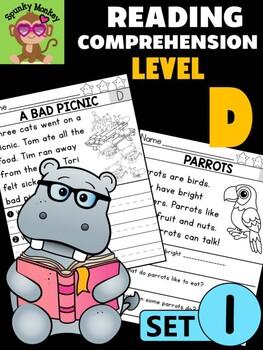 Level D Reading Comprehension Passages & Questions - SET 1