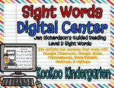 Level D Sight Words Digital Center (Jan Richardson Guided Reading Word List)