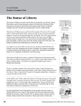 Level D: The Statue of Liberty (Reading Informational Text)