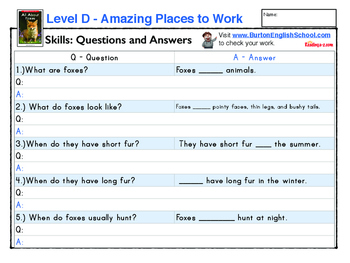 Level D for A to Z Readers