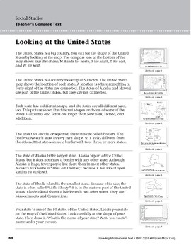 Level E: Looking at the United States (Reading Informational Text)