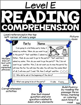 Level E Reading Comprehension Passages