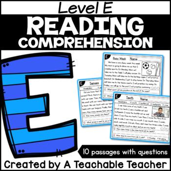 Level E Reading Comprehension Passages