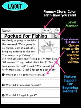 Level E Reading Comprehension Passages & Questions - SET 2