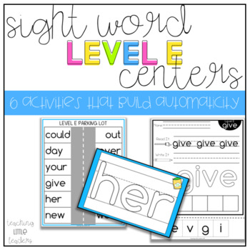 Level E Sight Word Centers