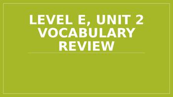 Level E Unit 2 Sadlier Vocabulary Review Activity--Creativ