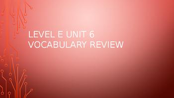 Level E Unit 6 Sadlier Vocabulary Review Activity--Creative Thinking!