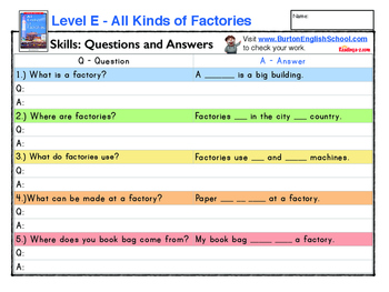 Level E worksheets A to Z Readers