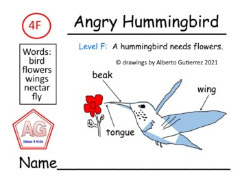 Level F Narrative Fiction: Titled Angry Hummingbird #4F