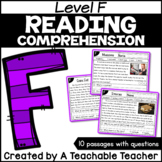 Level F Reading Comprehension Passages and Questions