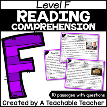 Level F Reading Comprehension Passages