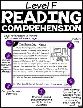 Level F Reading Comprehension Passages and Questions SET TWO