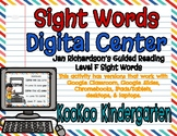 Level F Sight Words Digital Center (Jan Richardson Guided Reading Word List)