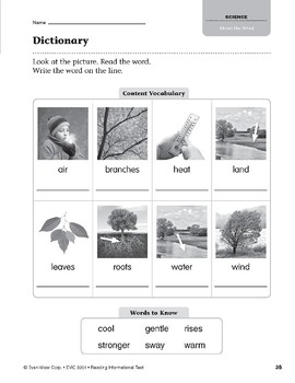 Level G: About the Wind (Reading Informational Text)