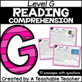 Level G Reading Comprehension Passages and Questions