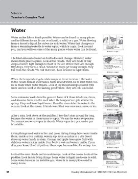 Level G: Water (Reading Informational Text)
