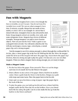 Level H: Fun with Magnets (Reading Informational Text)