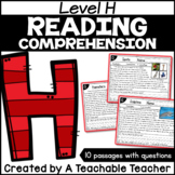 Level H Reading Comprehension Passages and Questions
