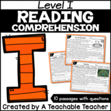 Level I Reading Comprehension Passages and Questions