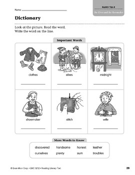 Level I: The Elves and the Shoemaker, (Reading Literary Text)
