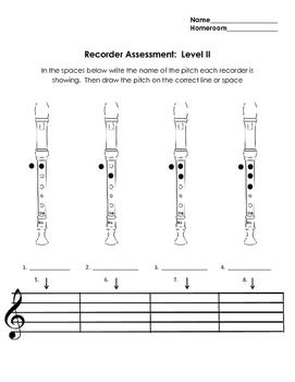 Level II Recorder Assessment
