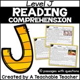 Level J Reading Comprehension Passages