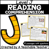 Level J Reading Comprehension Passages