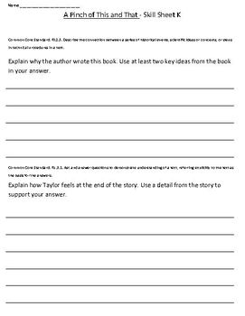 Level K Harcourt Guided Reading Skill Sheets & Activities Set1