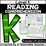 Level K Reading Comprehension Passages