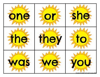 Level K Trick Word Cards Summer