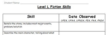 Level L Fiction Skills