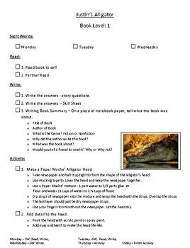 Level L Harcourt Guided Reading Skill Sheets & Activities Set1