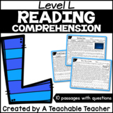 Level L Reading Comprehension Passages