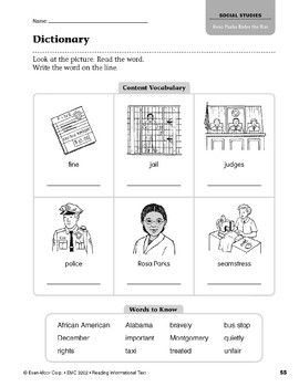 Level L: Rosa Parks Rides the Bus (Reading Informational Text)