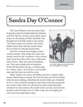 Level L: Sandra Day O'Connor (Reading Informational Text)