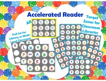 Level Labels for Organizing Book Baskets for Reader's Workshop: Rainbow Dots 1