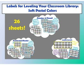 Level Labels for Organizing Book Baskets for Reader's Workshop: Soft Pastel