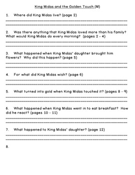 Level M Guided Reading Questions (For Rigby PM Readers)